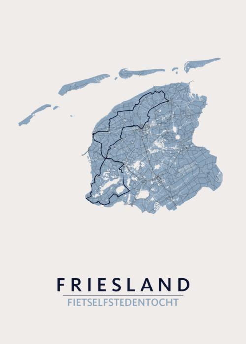 Friesland fietselfstedentocht Kaart