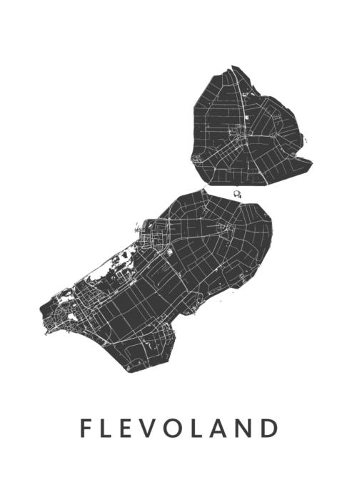 Flevoland Provinciekaart