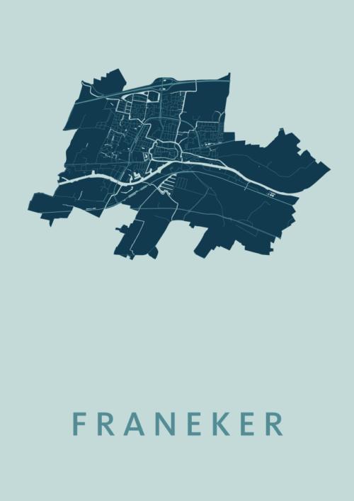 Franeker Mint Stadskaart Poster | Kunst in Kaart