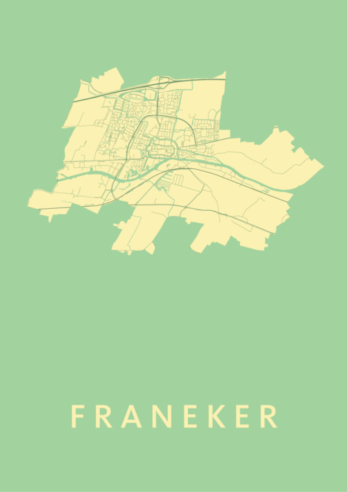 Franeker Spring Stadskaart Poster | Kunst in Kaart