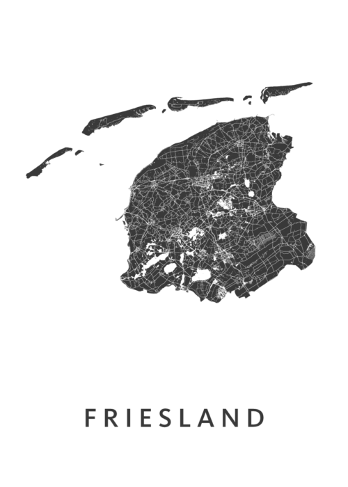 Friesland Provinciekaart
