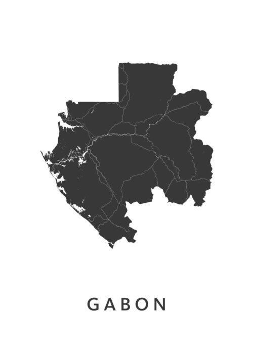 Gabon Landkaart