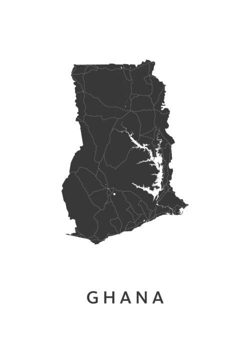 Ghana Landkaart