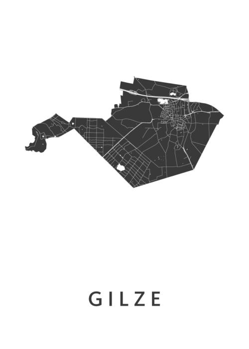 Gilze Stadskaart - White