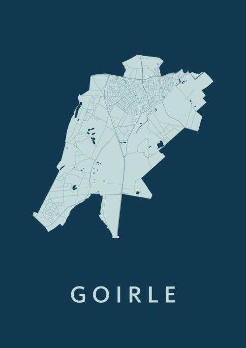 Goirle Feldgrau Stadskaart Poster   Kunst in Kaart