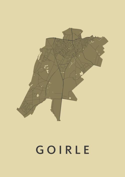 Goirle GoldenRod Stadskaart Poster   Kunst in Kaart