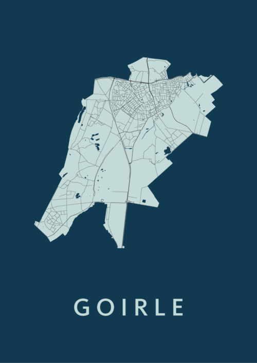 Goirle Navy Stadskaart Poster | Kunst in Kaart