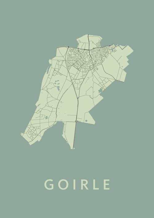 Goirle Olive Stadskaart Poster | Kunst in Kaart