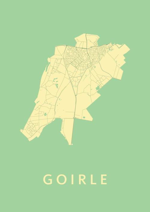 Goirle Spring Stadskaart Poster | Kunst in Kaart