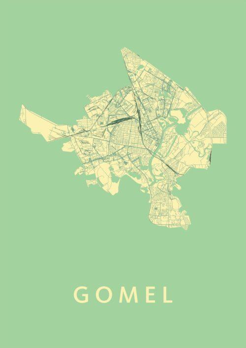 Gomel Spring Stadskaart Poster | Kunst in Kaart