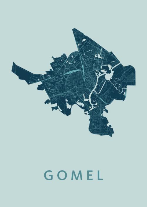Gomel Mint Stadskaart Poster   Kunst in Kaart