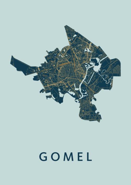 Gomel Prussian Stadskaart Poster | Kunst in Kaart
