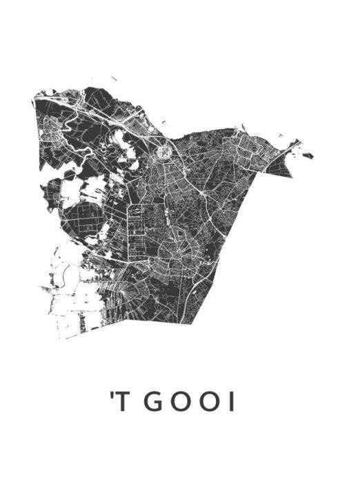 't Gooi streek kaart poster | Kunst in Kaart
