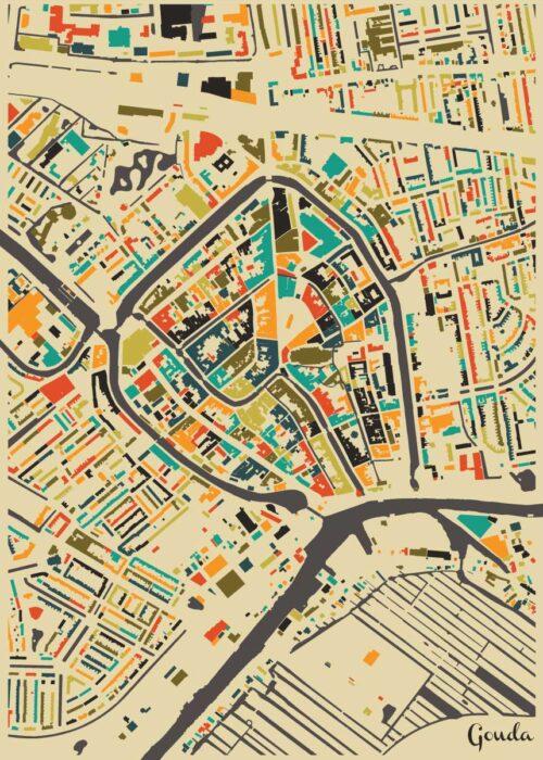 Gouda Autumn Mosaic Map