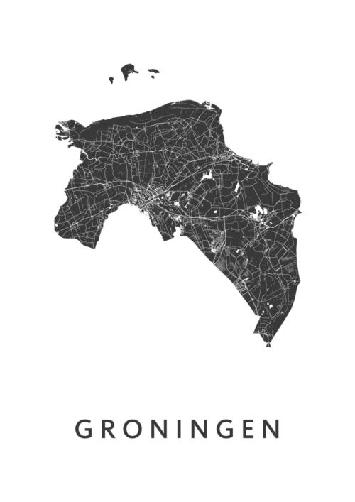 Groningen Provinciekaart