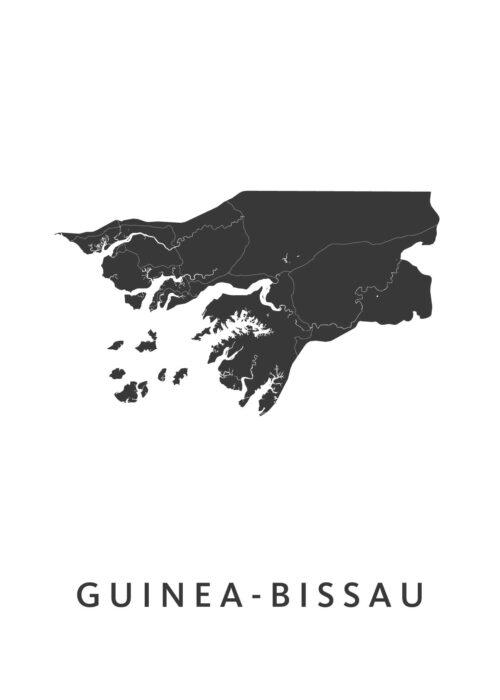 Guinea-Bissau Landkaart