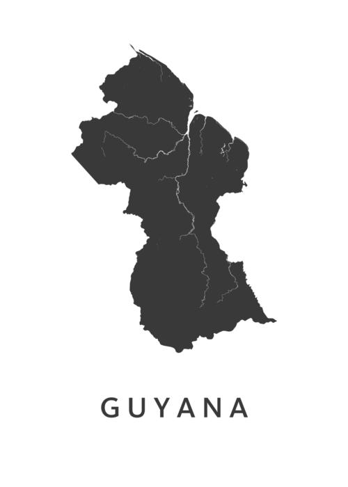 Guyana Landkaart