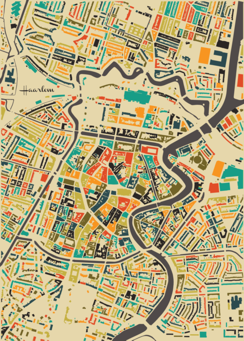 Haarlem Autumn Mosaic Map