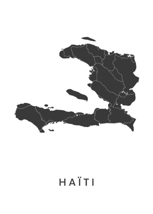 Haïti Landkaart