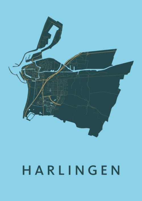 Harlingen Azure City Map