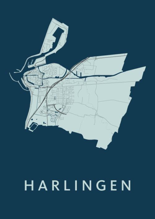 Harlingen Navy City Map