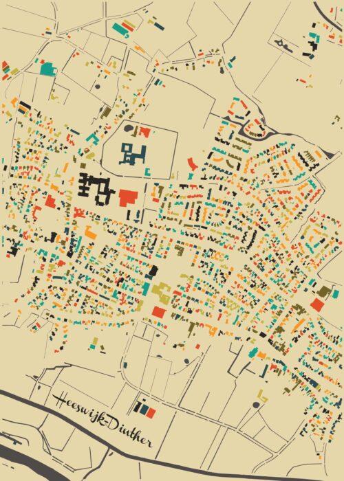 Heeswijk-Dinther Autumn Mosaic Map
