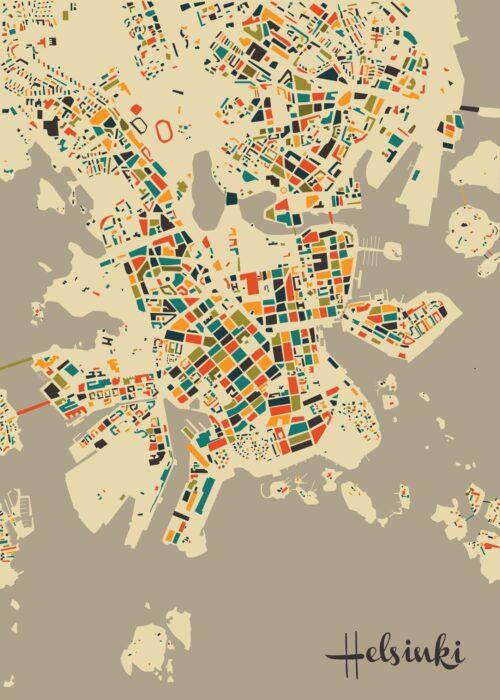 Helsinki Mosaic map Autumn