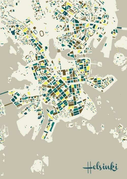 Helsinki Mosaic map Spring