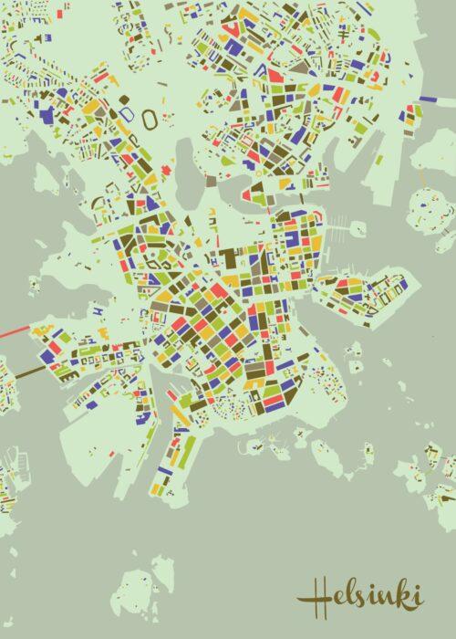 Helsinki Mosaic map Summer