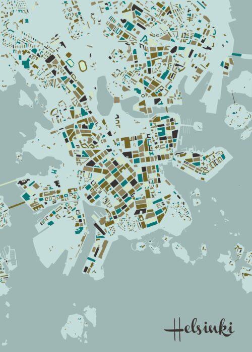 Helsinki Mosaic map Winter