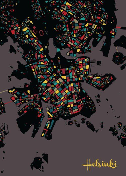 Helsinki Mosaic map Urban