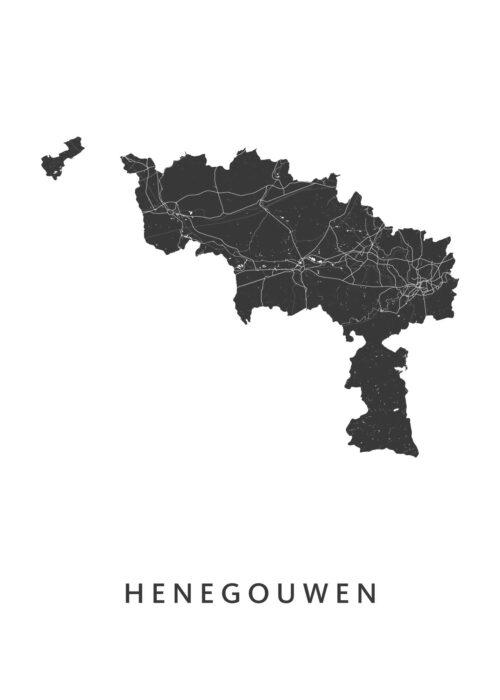 Henegouwen Provinciekaart Poster