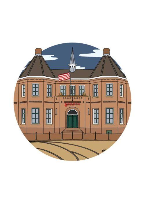 Het kasteel Rotterdam - Poster