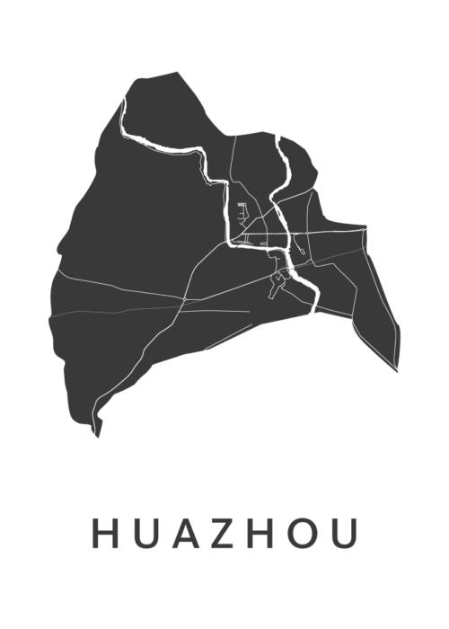 Huazhou White City Map
