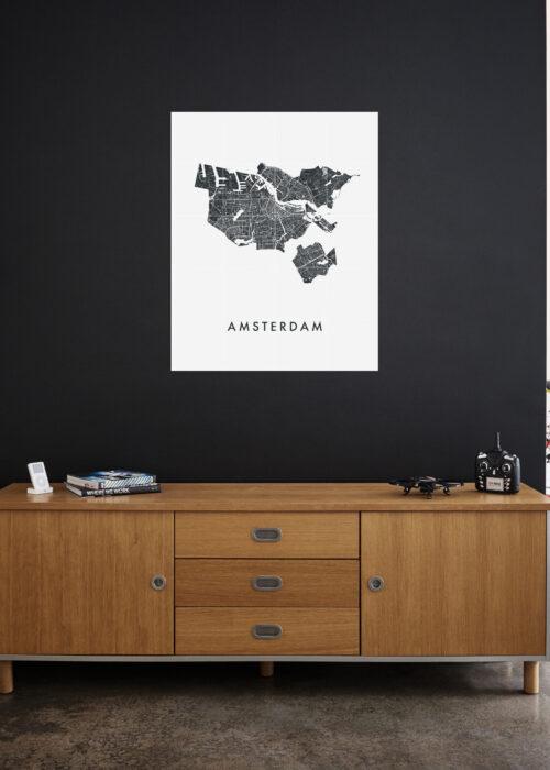 IXXI your city - 80 x 100 cm stadskaart poster