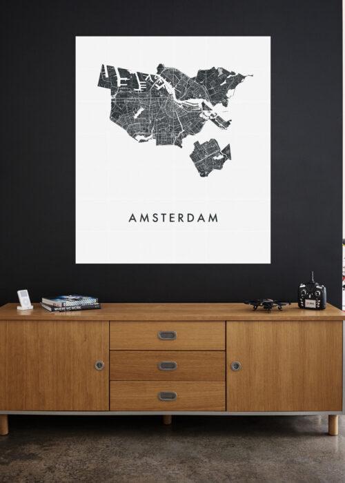 IXXI your city - 120 x 140 cm stadskaart poster