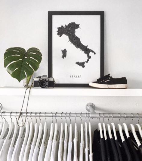 Italie landkaart - Kunst in Kaart