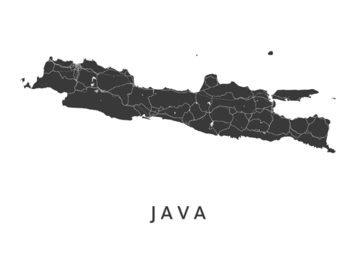 Java White Island Map