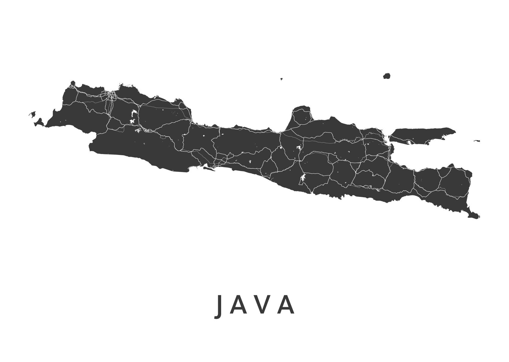 Java White Island Map