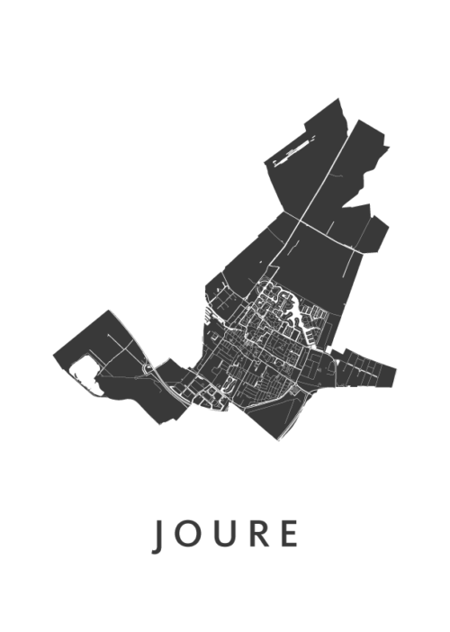 Joure White City Map
