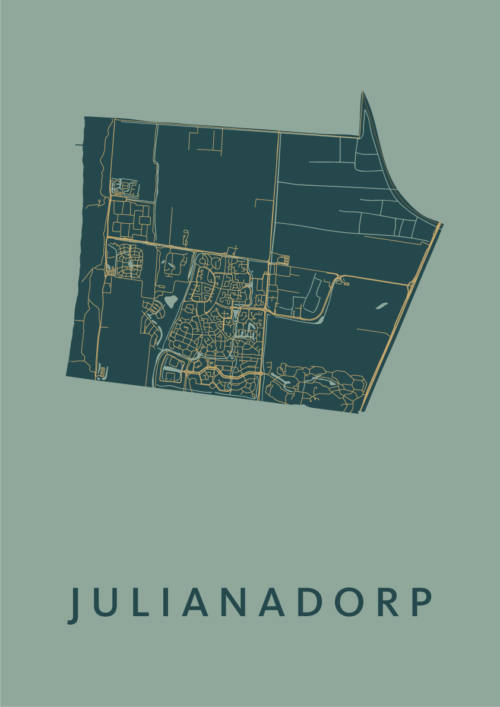 Julianadorp Amazon Stadskaart Poster   Kunst in Kaart