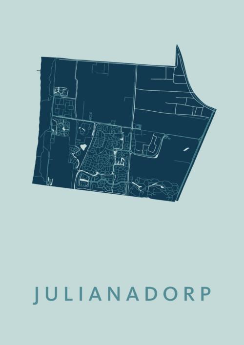 Julianadorp Mint Stadskaart Poster | Kunst in Kaart