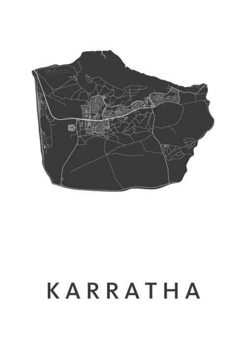 Karratha White City Map
