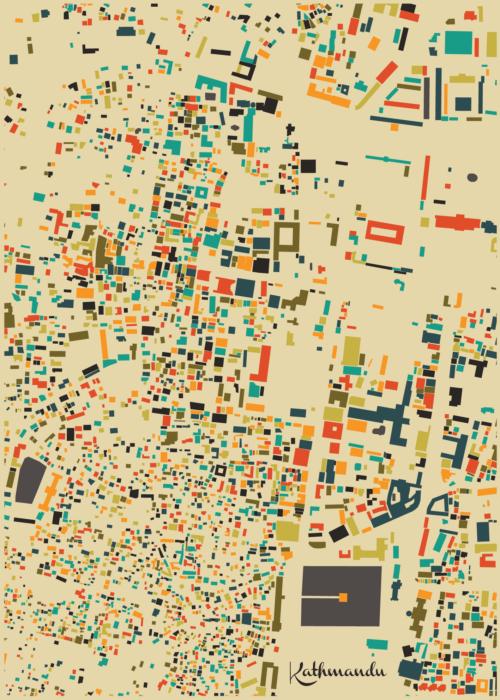 Kathmandu Autumn Mosaic Map