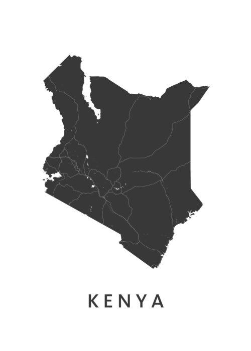 Kenya Landkaart
