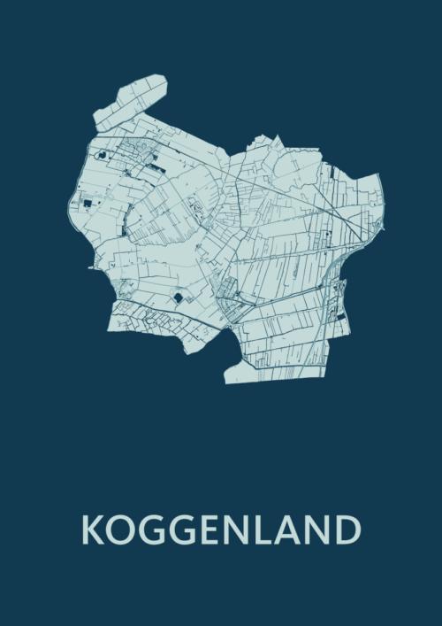 Koggenland Feldgrau Stadskaart Poster | Kunst in Kaart