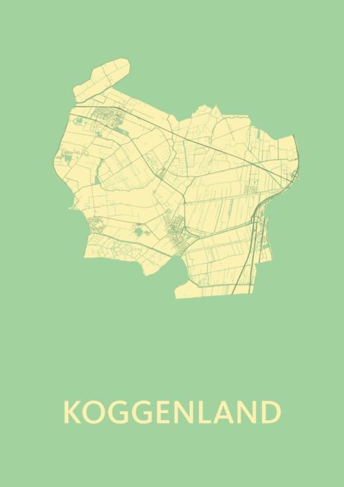 Koggenland Spring Stadskaart Poster | Kunst in Kaart