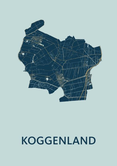 Koggenland Prussian Stadskaart Poster | Kunst in Kaart