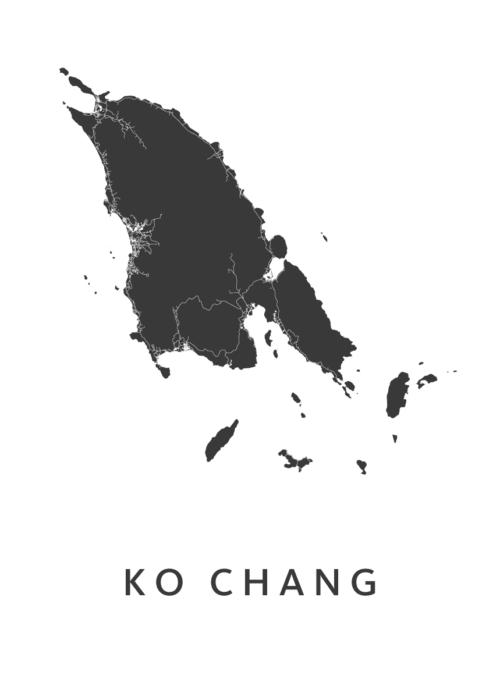 Ko Chang white island map