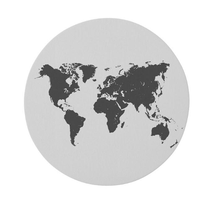 Kunst in Kaart - Wereldkaart vloerkleed